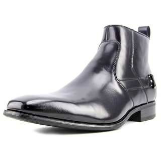 Stacy Adams Montrose Men  Square Toe Leather Black Ankle Boot