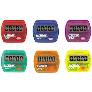 Ultrak 240 - Electronic Step Counter Pedometer - Set of 6