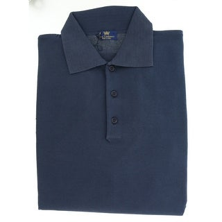 Real Cashmere Polo Big Mens Navy Blue Sweater
