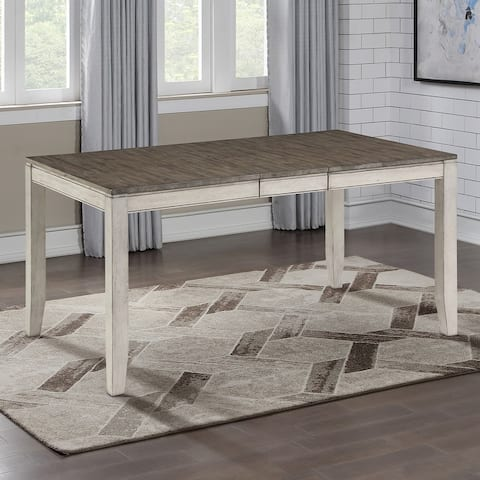 The Gray Barn Aldrich Two-tone Smokey 60-inch Dining Table
