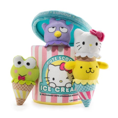 Hello Sanrio Medium Plush Ice Cream Scoops - Yellow