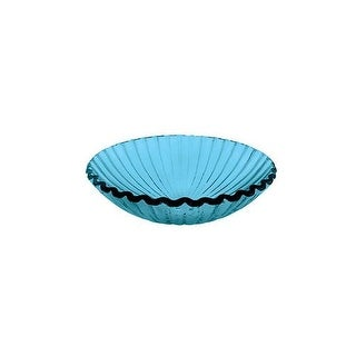"DecoLav 1035 17"" Vessel Sink, Glass Clam Shell Design"