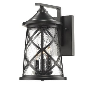 "Millennium Lighting 2502 3 Light 13"" High Outdoor Wall Sconce with Glass Shade"