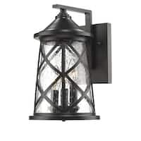 """Millennium Lighting 2502 3 Light 13"""" High Outdoor Wall Sconce with Glass Shade"""