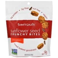 Somersaults Crunchy Sunflower Seed Bites - Cinnamon - Case of 6 - 6 oz.