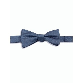 Vince Camuto NEW Navy Blue Textured Silk Blended Pre-Tied Bow Tie