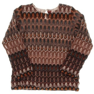 Missoni Girls Knit Top Knit Lined - 8