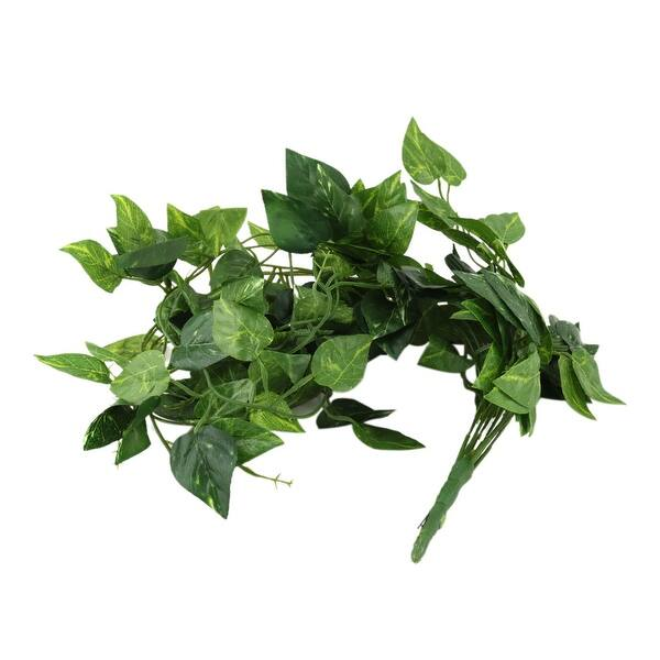 Shop Household Garden Plastic Artificial Leaves Wall Hanging Ornament Ivy Vine Green Overstock 28884442