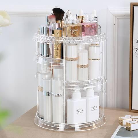 360 Degree Rotation 7 Layers Makeup Organizer Large Capacity Makeup Storage
