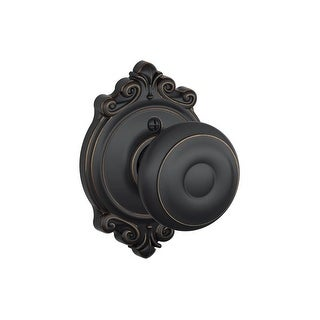 Schlage F170-GEO-BRK  Georgian Non-Turning One-Sided Dummy Door Knob with the Decorative Brookshire Rose