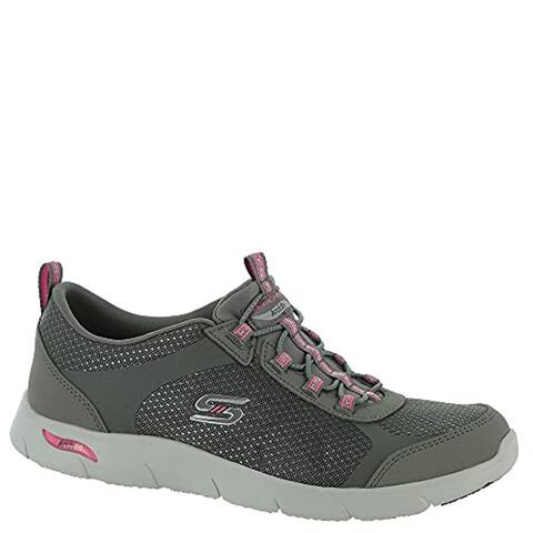 Skechers Sport Active Arch Fit-Refine Her Best Women's Slip On 6 B(M) US Grey-Pink