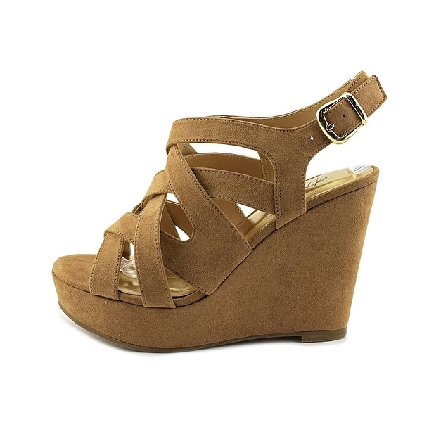Thalia Sodi Womens Maddoraf Fabric Open Toe Casual Platform Sandals