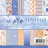 """Find It Trading Jeanine's Art Paper Pack 6""""X6"""" 23/Pkg-Wintersports, Double-Sided Designs"""