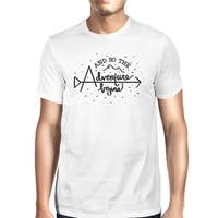 Adventure Begins T-Shirt Mens White Graduation Tee Gift For Him