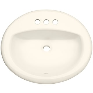 "PROFLO PF20174  20-1/2"" Self Rimming (Drop-In) Oval Bathroom Sink - 3 Holes Drilled"