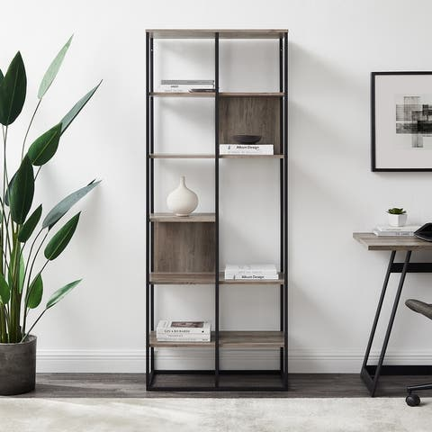Carbon Loft 70-inch Mixed Material Bookshelf
