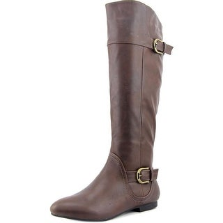 Tender Tootsies Jewel Women W Round Toe Synthetic Brown Knee High Boot