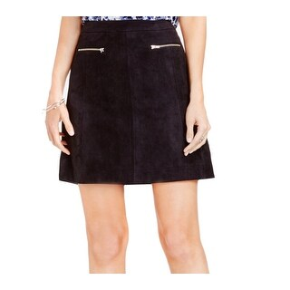 Two By Vince Camuto NEW Black Women's 10 Faux Suede A-Line Mini Skirt