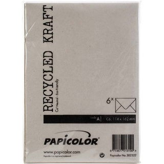 Kraft Grey - Papicolor A6 Envelopes 6/Pkg
