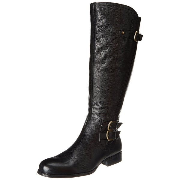Naturalizer Black Women's Shoes 4.5W Knee-High Leather Boots