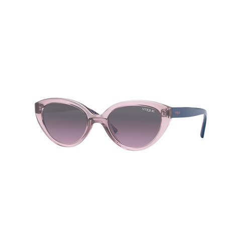 Vogue VJ2002 278090 46 Transparent Purple Woman Cat Eye Sunglasses