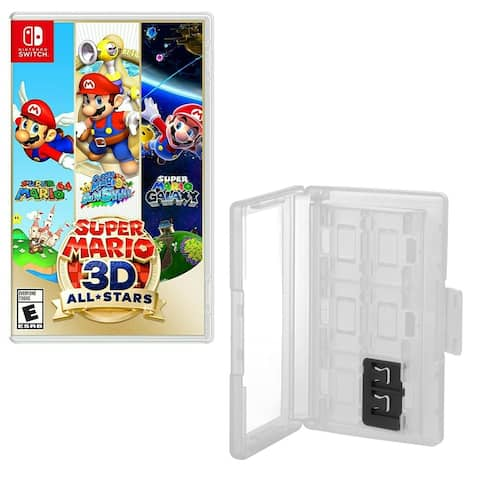 Super Mario All Stars 3D for Nintendo Switch with Game Caddy - Clear - N/A