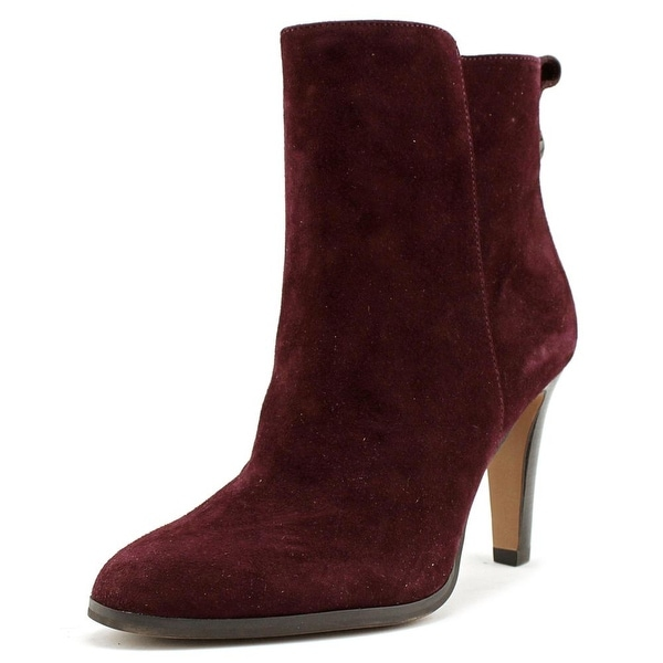 Coach Jemma Women Round Toe Suede Burgundy Ankle Boot