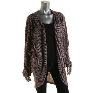 Freshman Womens Juniors Open Front Chevron Cardigan Sweater