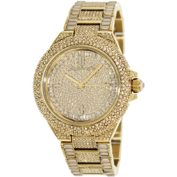 da71b3a572c8 Shop Michael Kors Women s Camille Gold Stainless-Steel Fashion Watch ...