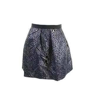 French Connection Dark Brown Metallic Pleated Skirt