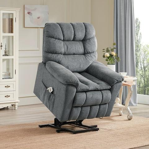 Nestfair Power Lift Chair with Adjustable Headrest Heating Massage Recliner