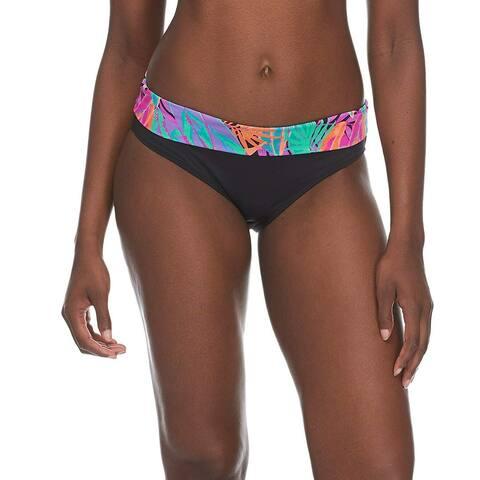 Skye Women's Mid Waist Full Coverage Bikini Bottom, MultiColor, Size Medium