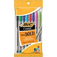 Fashion Assorted Barrels - Bic Cristal Xtra Bold Pens 8/Pkg