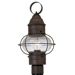 "Designers Fountain 1766-RT 1 Light 10"" Onion Post Lantern from the Nantucket Collection - rustique"