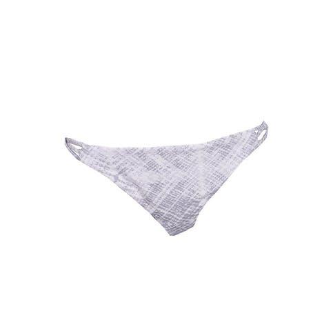 O'Neill Grey White Vida Printed Cross-Tab Bikini Bottom XL
