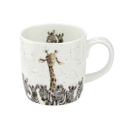 Wrendale Designs 14 Ounce Mug Head & Shoulders Above (Giraffe/Zebra)