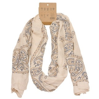 Fashion Scarf Womens Tan Paisley Pattern Soft Lightweight Trendy Scarf
