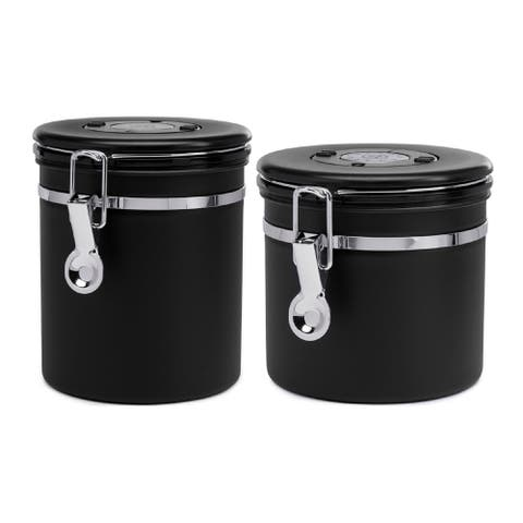 ChefWave Vacuum Sealed Coffee Canister (Large) with Canister Bundle