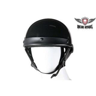DOT Approved Shiny Black Motorcycle Helmet Size M