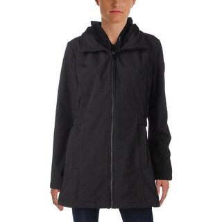 Vince Camuto Womens Basic Coat Hooded Fleece Lined - L