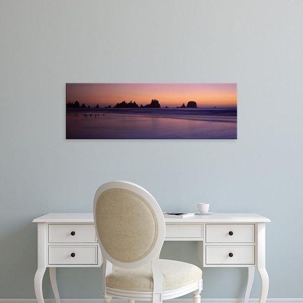 Easy Art Prints Panoramic Images's 'Stack rocks at dusk, Point Of Arches, Olympic National Park, Washington' Canvas Art