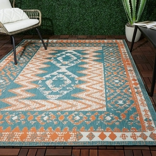 Link to Augusto Border Indoor/Outdoor Area Rug Similar Items in Classic Rugs