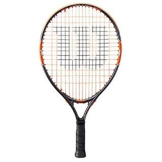 Wilson Unisex Burn Team 19 Tennis Racket, Black/Orange, 3 1/2