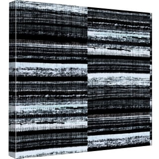 """PTM Images 9-99076  PTM Canvas Collection 12"""" x 12"""" - """"B & W Stripes"""" Giclee Abstract Art Print on Canvas"""