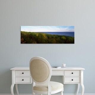 Easy Art Prints Panoramic Images's 'Fall trees on the coast, Cape Breton Island, Nova Scotia, Canada' Canvas Art