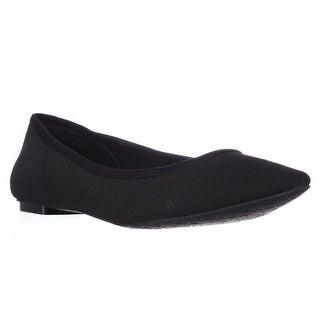 Tahari Edie Pointed Toe Flats - Black