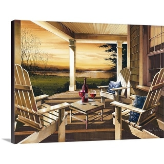 """""""Sunset with Wine"""" Canvas Wall Art"""