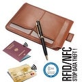 Ikepod Passport Sleeve Wallet with Micro Pen (Tan of 2 Color)[Italy Made // Top Leather] - Tan - Thumbnail 2