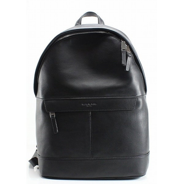 157fb5ef33340 Shop MICHAEL KORS Black Pebble Leather Odin Resina Men s Backpack ...