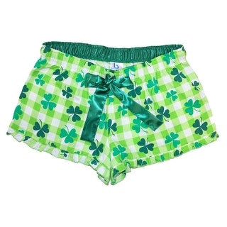 Boxercraft Women's Shamrock Shorts with Ruffle Hem - Green